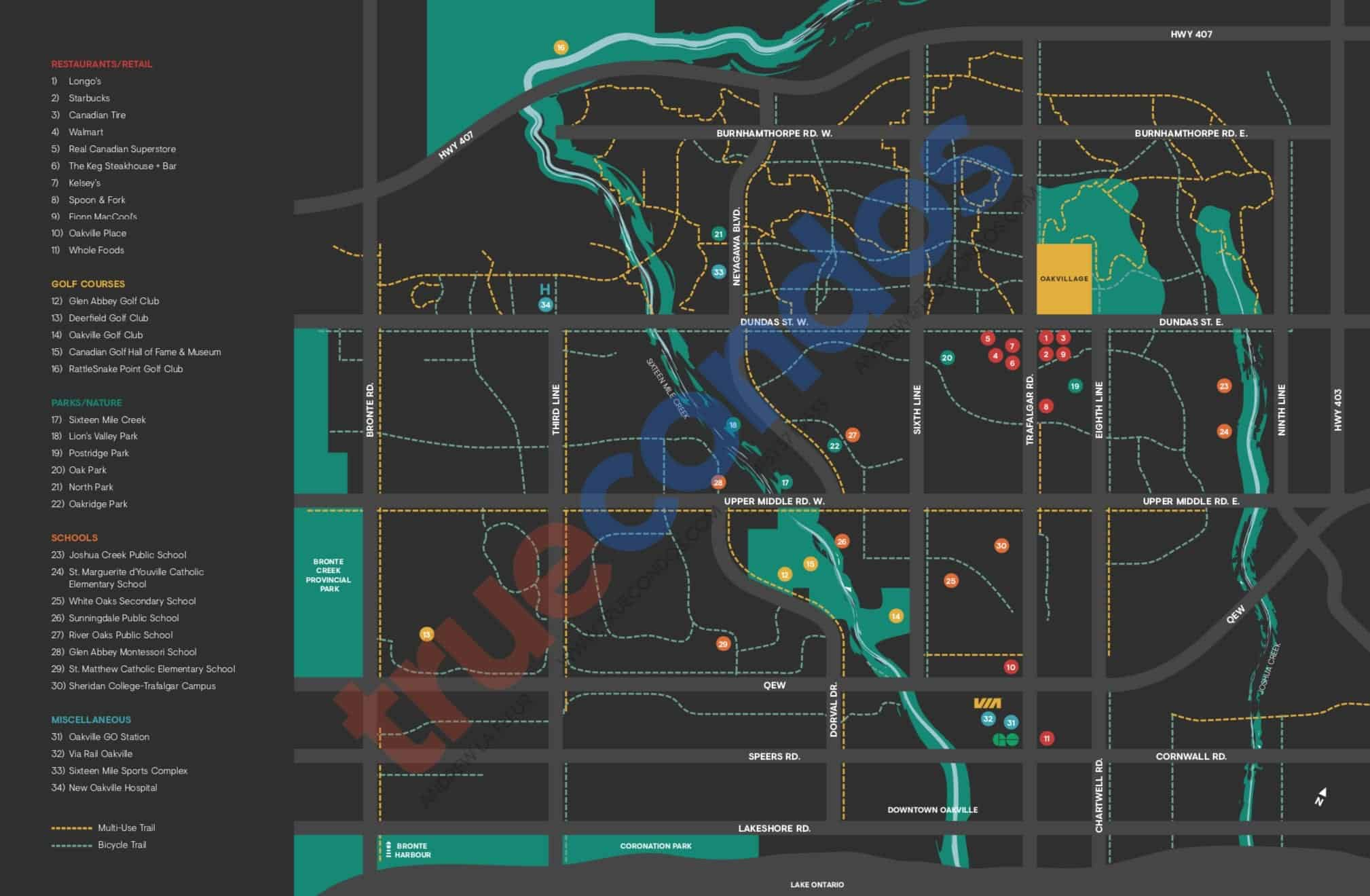 Minto Oakvillage Map Connected Oakvillage True Condos