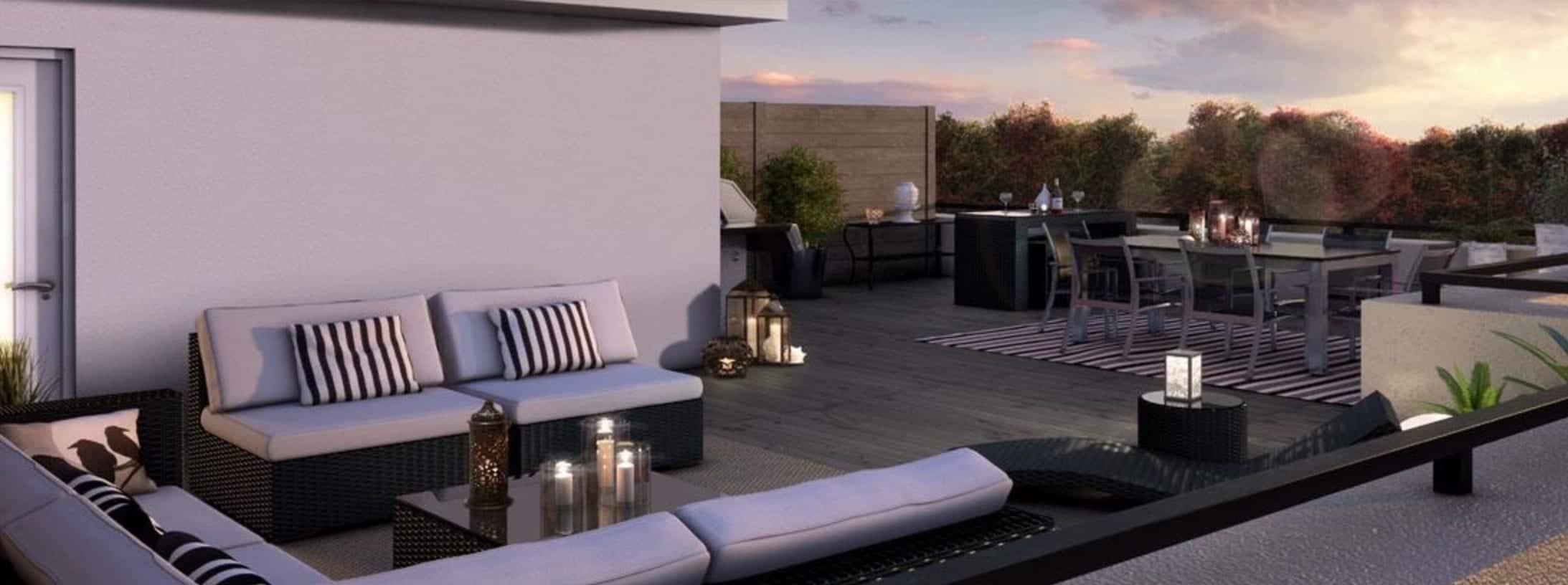 Minto Oakvillage Terrace Patio True Condos