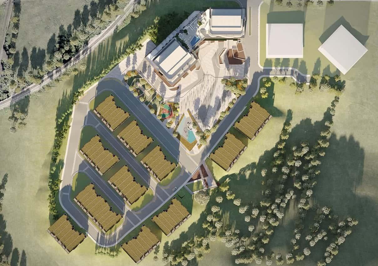 SXSW Condos Aerial Site Plan True Condos
