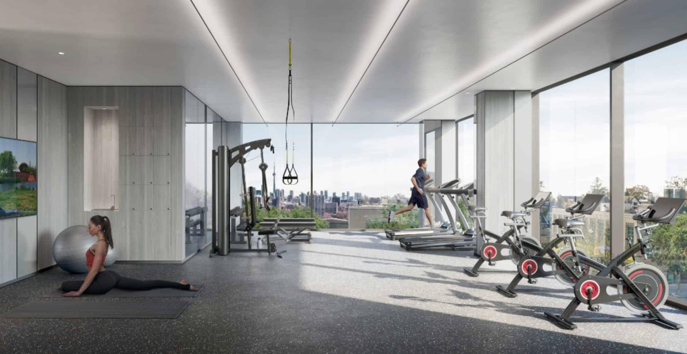 St. Clair Village Condos Amenities Fitness Centre True Condos