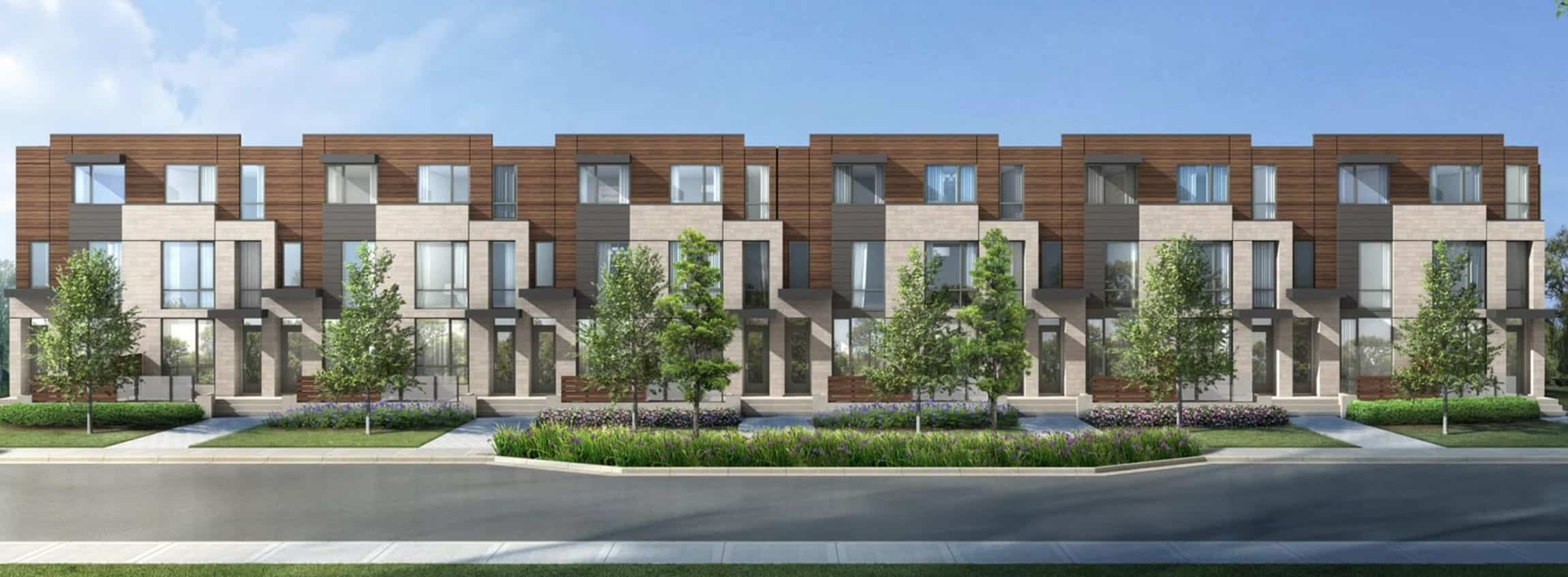 The New Lawrence Heights Dark Wood Exterior True Condos