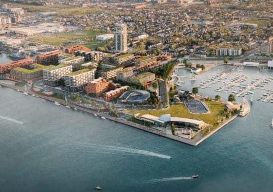 Waterfront Shores Condos Aerial View True Condos