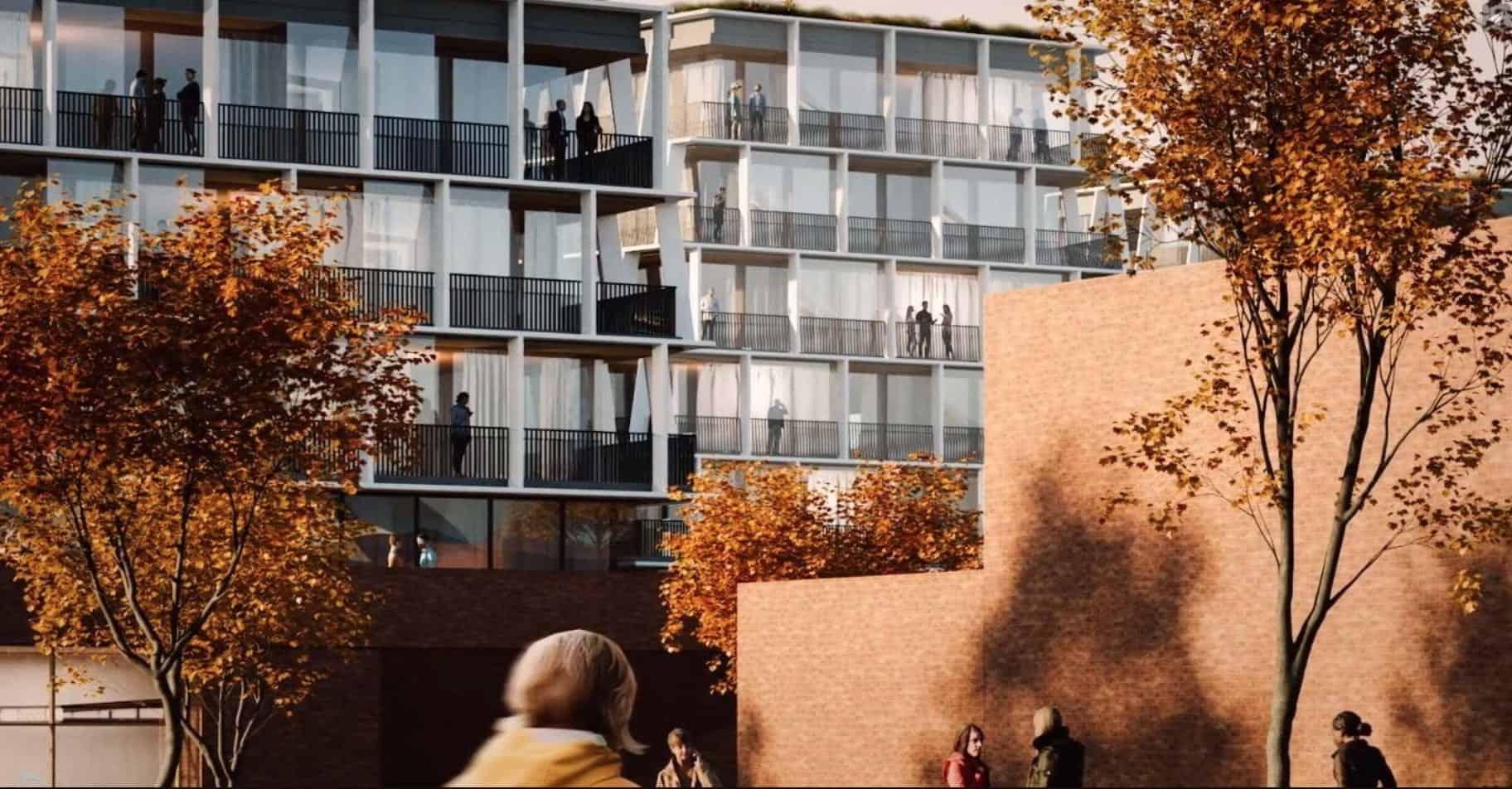 Waterfront Shores Condos Balconies Exterior Building True Condos
