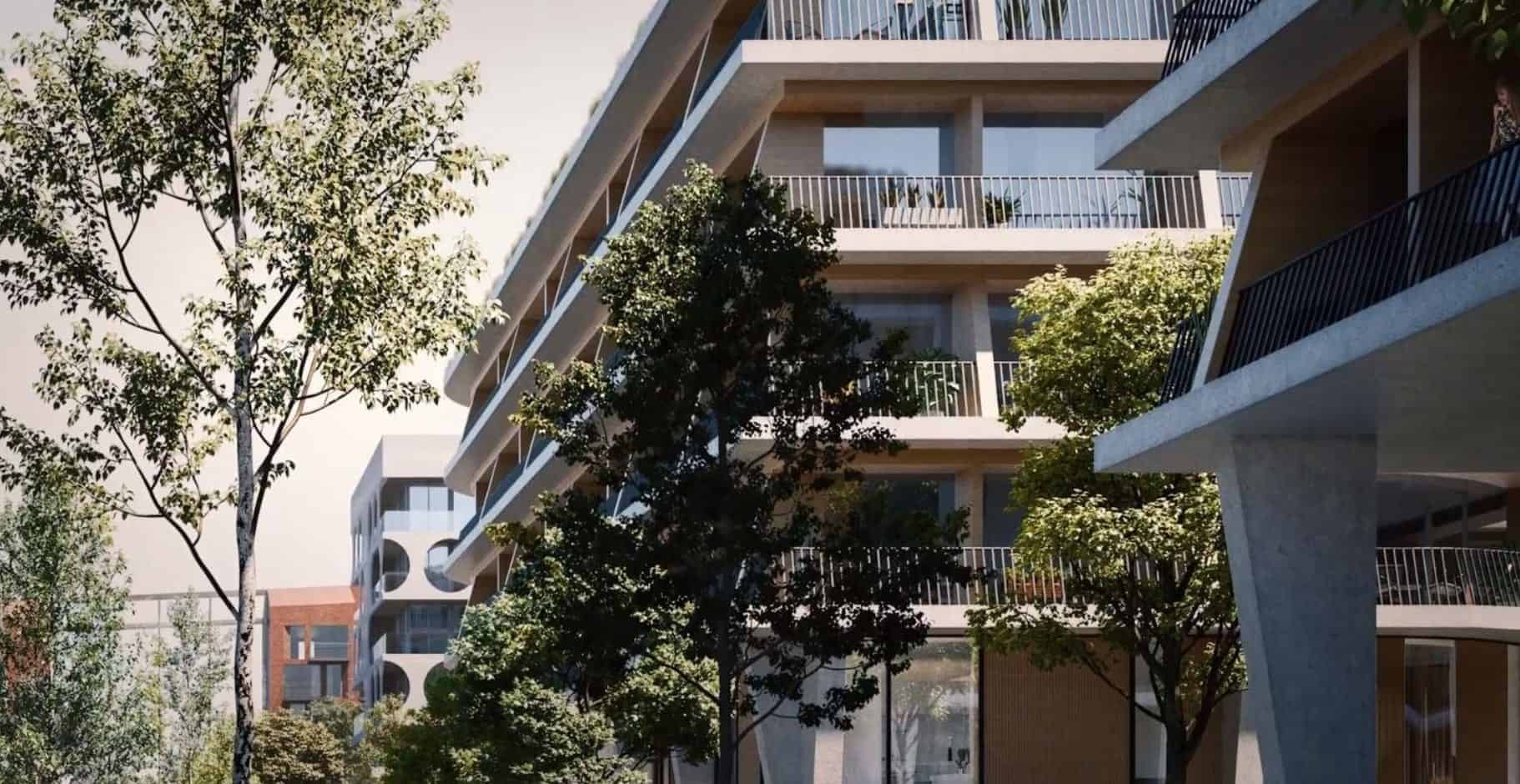 Waterfront Shores Condos Building Side Exterior Balconies True Condos