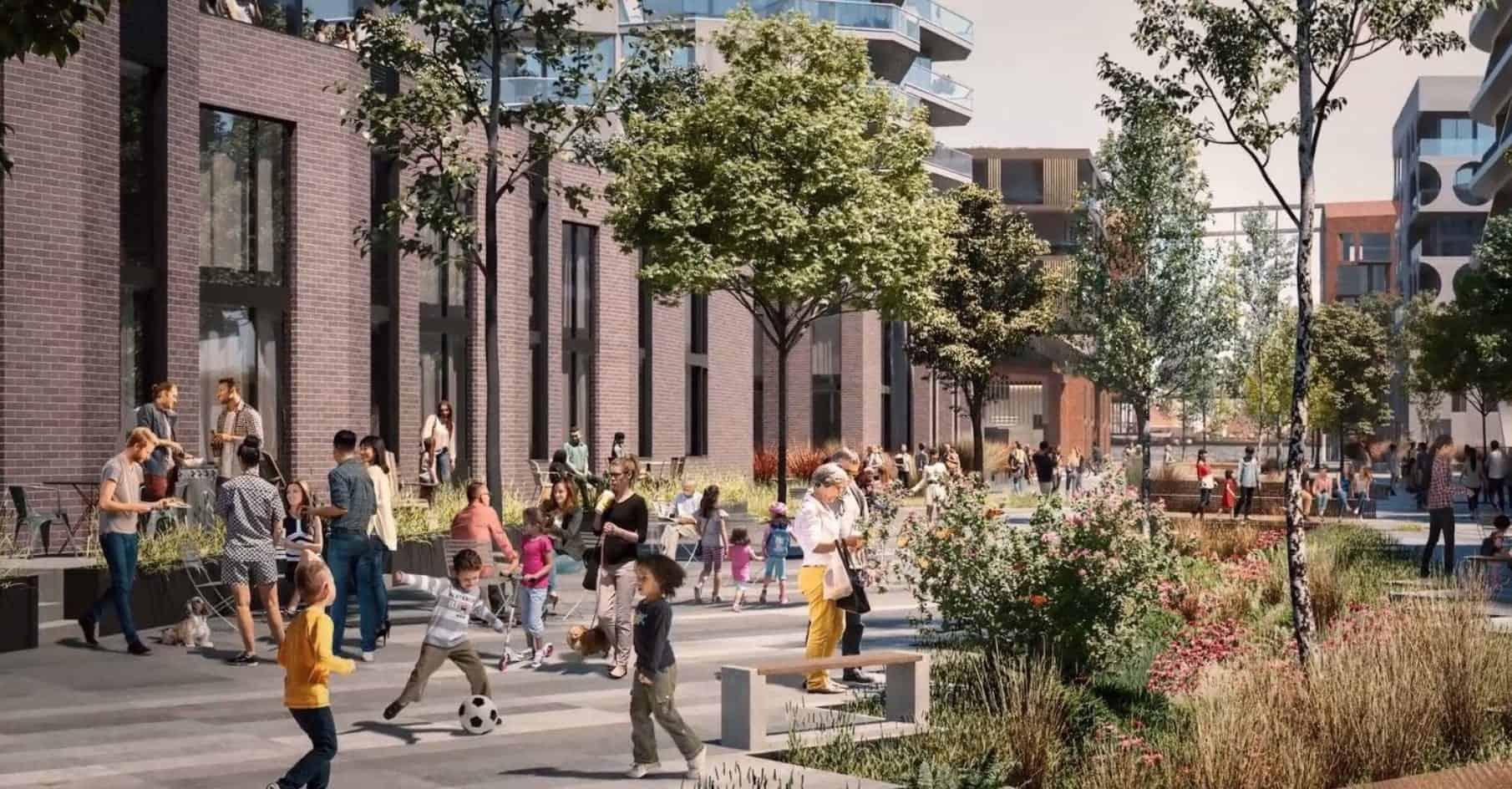 Waterfront Shores Condos Courtyard True Condos