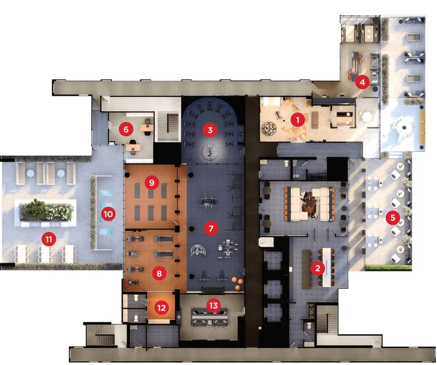 XO Condos Amenities Map