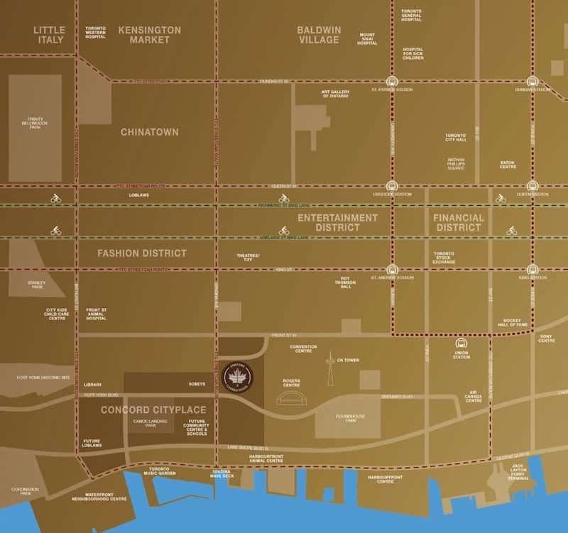 Concord Canada House Condos Location True Condos