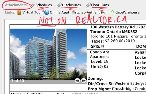 Realtor.ca MLS Listing Toronto Real Estate Snippet True Condos