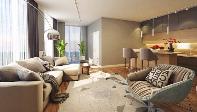 LJM Tower Condos Living Space