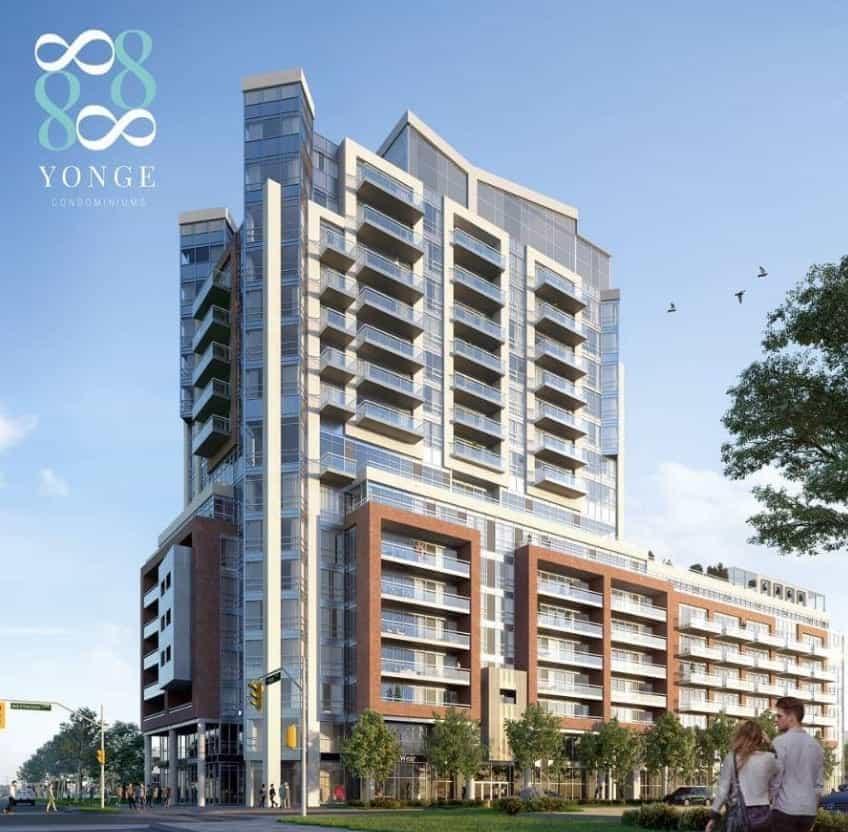 8888 Yonge Condos Exterior Building Rendering Image True Condos